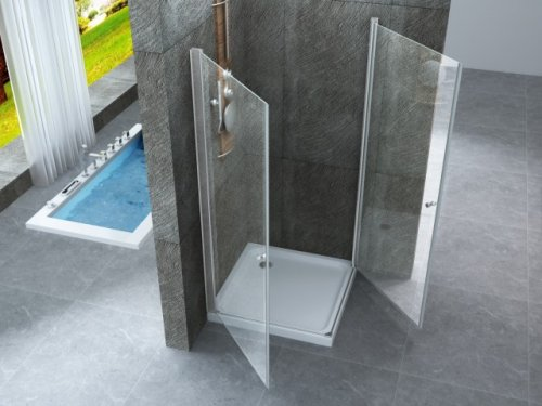 Mitepek it box doccia anta battente cristallo 8mm panarea - Siliconare box doccia interno o esterno ...