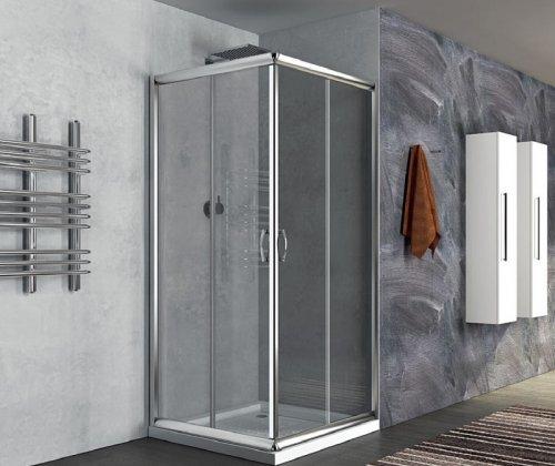 Box doccia due lati scorrevole, in cristallo 6mm h.190cm Ponza
