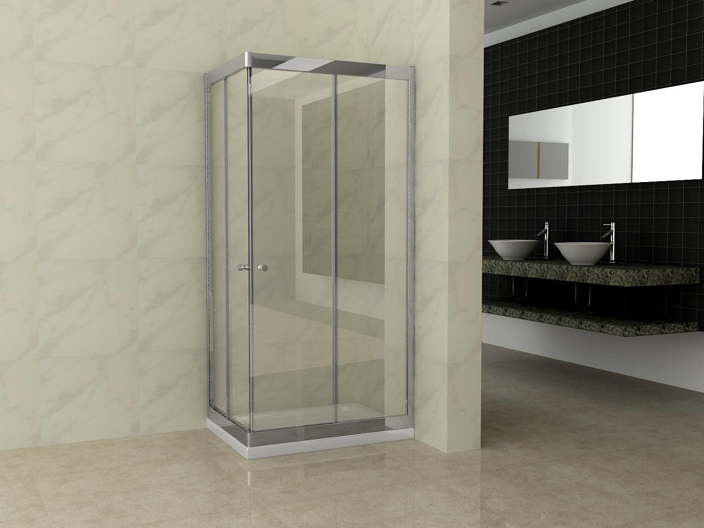 Box doccia rettangolare scorrevole in cristallo 6mm fluida ebay - Box doccia in vetro ...