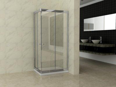 Box doccia rettangolare scorrevole in cristallo 6mm h.195cm FLUIDA