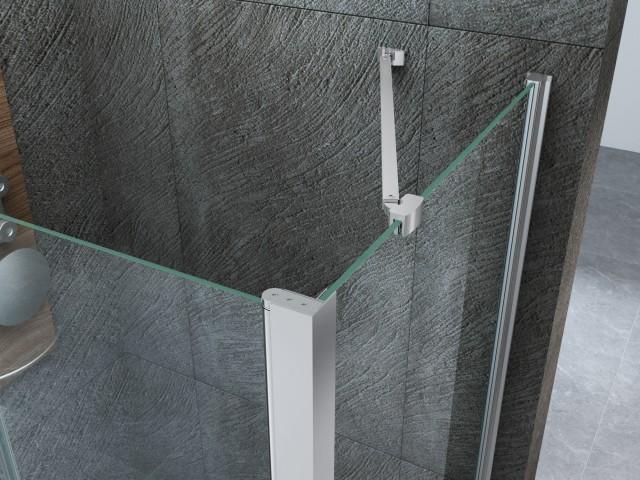 Box doccia  h angolare estensibile cristallo mm