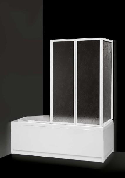 MITEPEK.IT - Box sopravasca 1+2 pannelli pieghevoli a libro bianco e ...