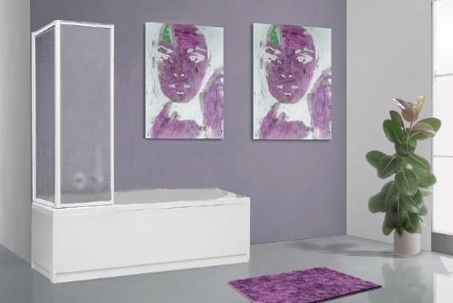 Box Vasca Da Bagno Angolare : Mitepek.it box vasca parete doccia pieghevole a libro 1 1 pannello