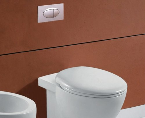 Copriwater soft close in poliestere bianco per wc FROSTY