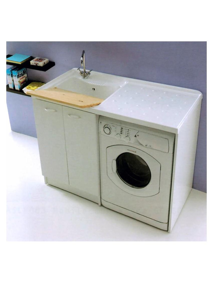 Mobile Lavello E Lavatrice mobile copri lavatrice lavatoio pilezzo lavanderia con ante 124x61 h.90 cm  lucia