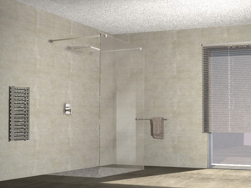Mitepek.it parete doccia cristallo 8mm trasparente walk in free