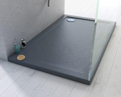 Piatto doccia in acrilico e abs effetto pietra h.4cm DROP STONE