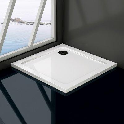 Piatto doccia in resina massa piena gel-coat slim quadrato h.3cm PETRO