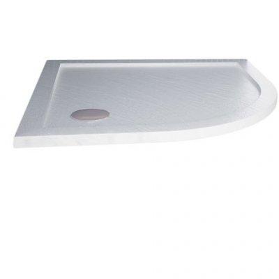 Piatto doccia semicircolare acrilico e abs effetto pietra h.4cm DROP STONE WHITE