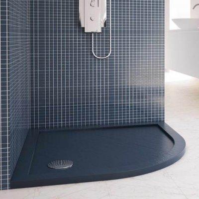 Piatto doccia semicircolare acrilico e abs effetto pietra h.4cm DROP STONE