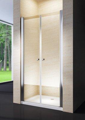 Porta doccia saloon cristallo 6mm trasparente o opaco h.190cm AGNES