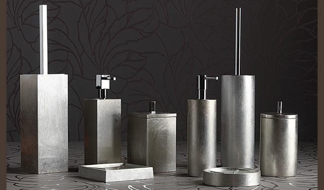 Mitepek set accessori bagno completo pezzi porta scopino
