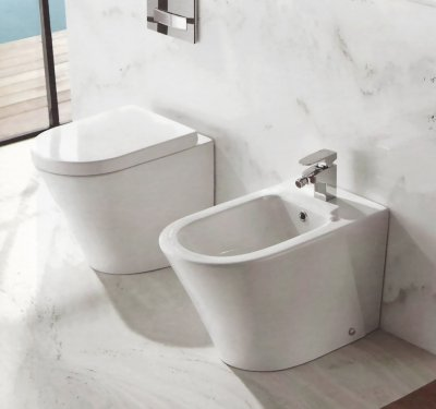 Sanitari a terra wc, bidet, copriwater soft close OASY