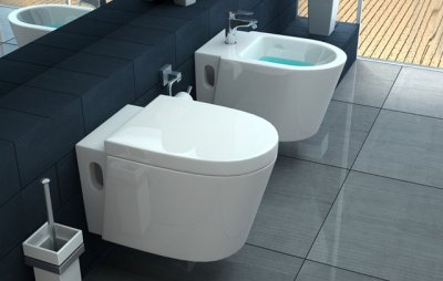 Sanitari a terra wc, bidet e copriwater soft close ICEBERG
