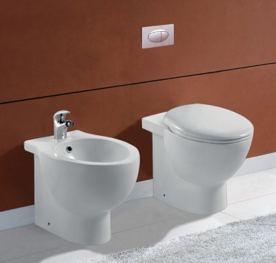 Sanitari filo muro wc bidet, copriwater soft close FROSTY
