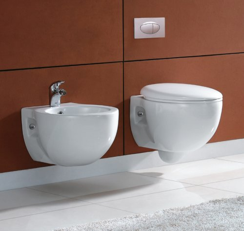 Sanitari sospesi wc bidet, copriwater soft close FROSTY