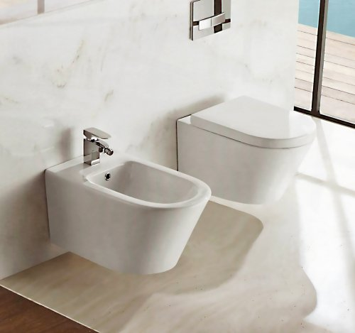 Sanitari sospesi wc, bidet, copriwater soft close OASY