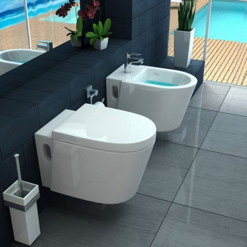 Sanitari sospesi wc, bidet e copriwater soft close ICEBERG