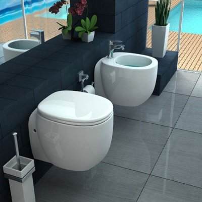 Sanitari sospesi wc, bidet e copriwater soft close OASI