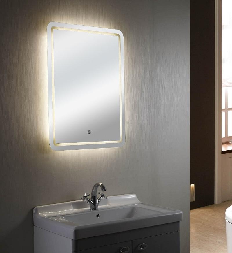 Specchio Con Luce Led.Specchio Con Luce Led Touch Screen Rettangolare L 60xh 80cm Mastin 02