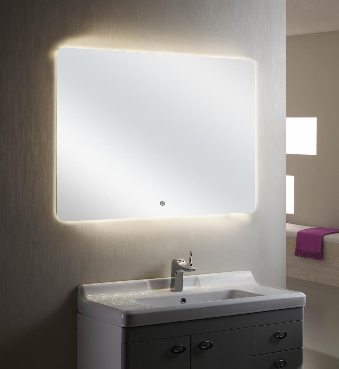 Rowenta Specchio Pieghevole.Specchio Con Luce Led Touch Screen Rettangolare L 60xh 80cm Mastin 05