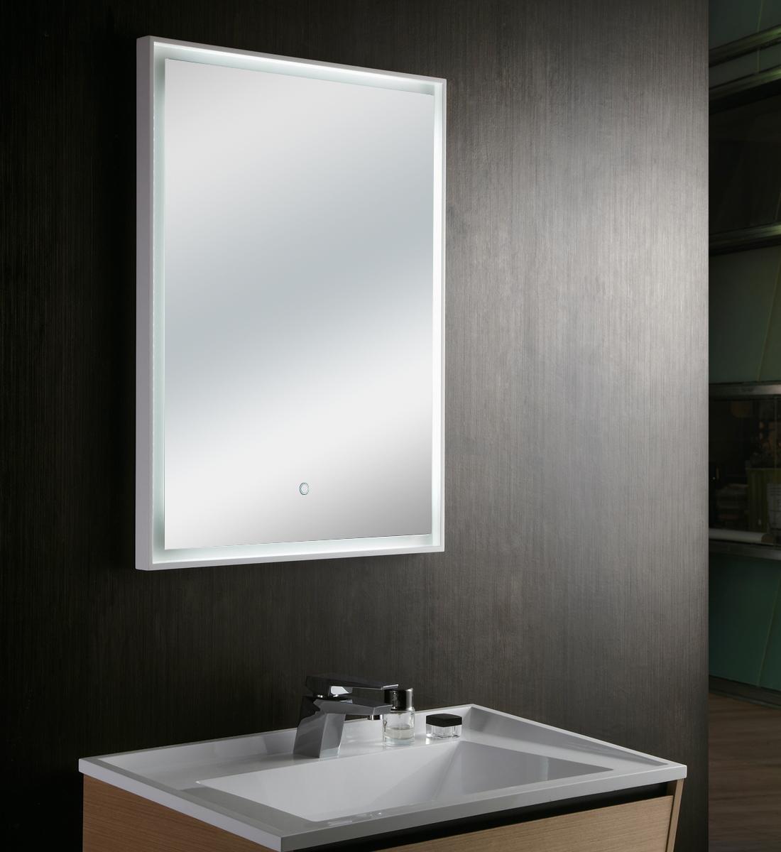 Specchio Con Luce Led.Specchio Con Luce Led Touch Screen Rettangolare L 60xh 80cm Mastin 09