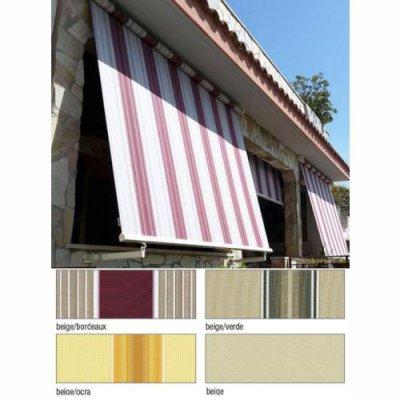 Tenda da sole a caduta 3x2,5 mt beige/bordeaux, beige/verde, beige/ocra, beige  MILOS