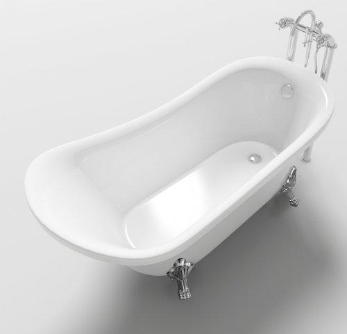 Mitepek it vasca da bagno in stile inglese freestanding 160x72x75cm leona - Vasca da bagno in inglese ...