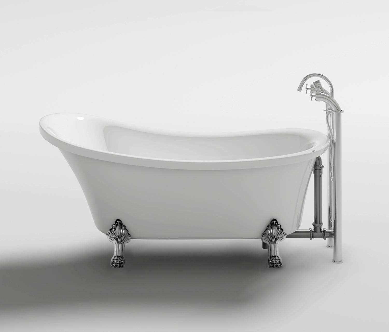 Vasca Da Bagno In Stile Inglese.Vasca Da Bagno In Stile Inglese Freestanding 160x72x75cm Leona