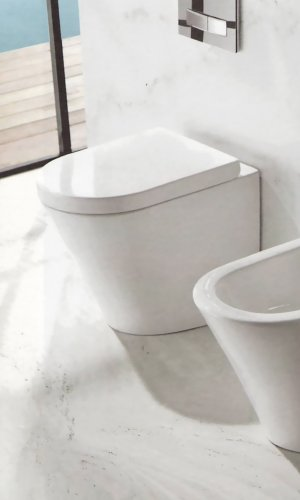 Wc a terra con copriwater soft close OASY