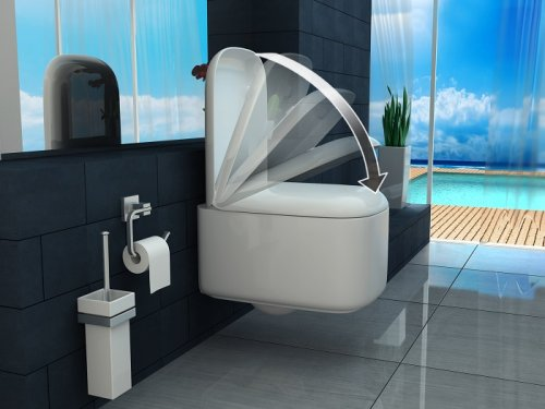 Wc sospeso con copriwater soft close bianco STELLA