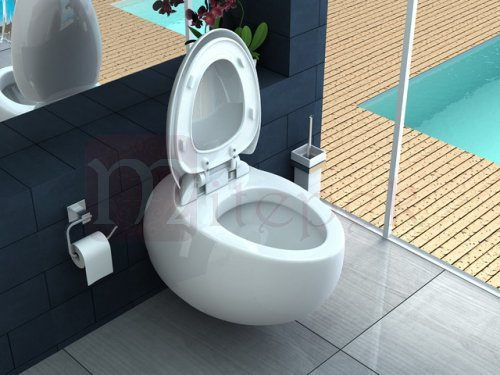 Wc vaso sospeso con copriwater soft close NUVOLA